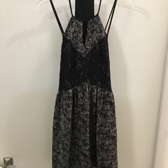 BCBGeneration Dresses & Skirts - Black and Blue Floral Sun Dress